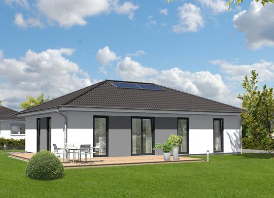 baustellenbesichtigung am in trebbin bungalow 110 von town country haus. Black Bedroom Furniture Sets. Home Design Ideas
